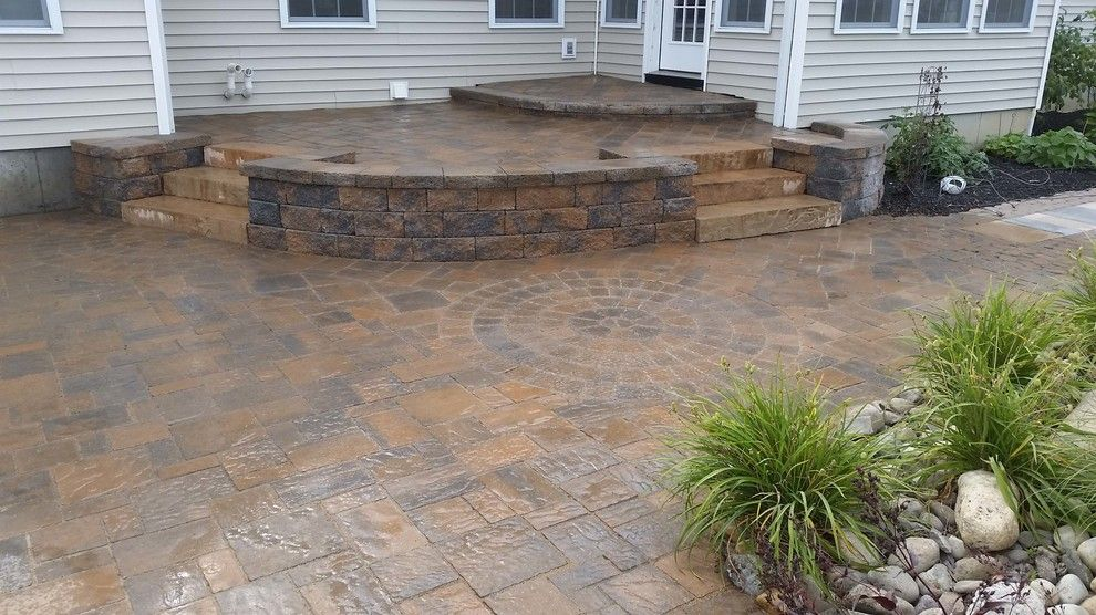 How to Lay Pavers for a Traditional Patio with a Landscaping and Beautiful Patio and Landscape Retreat by Hansens Landscaping