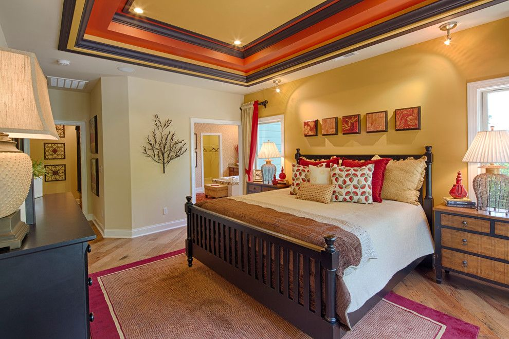 How to Paint a Popcorn Ceiling for a Traditional Bedroom with a Large Nightstand and Master Bedroom by Schumacher Homes by Schumacher Homes