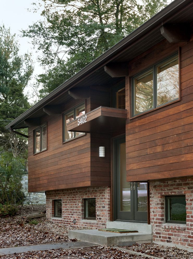 How to Paint Aluminum Siding for a Contemporary Exterior with a Canopy and Entry by Bennett Frank Mccarthy Architects, Inc.