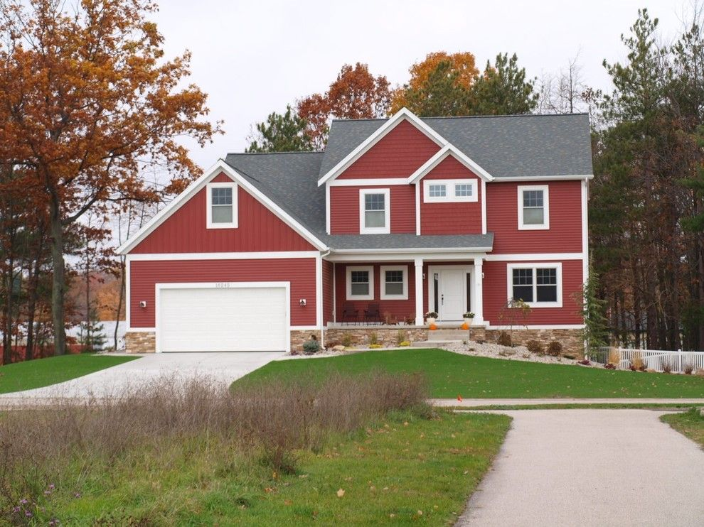 How to Paint Aluminum Siding for a Traditional Exterior with a Red Wall and Exterior by Jill Carlson