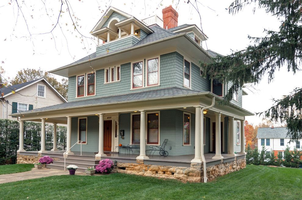 How to Paint Aluminum Siding for a Traditional Exterior with a Wood Windows and Drummond House by Elise Moore Design