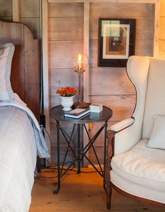 How to Refinish a Table for a Farmhouse Bedroom with a Renovation and Flanagan Farm Portland Maine by Nastasi Vail Design