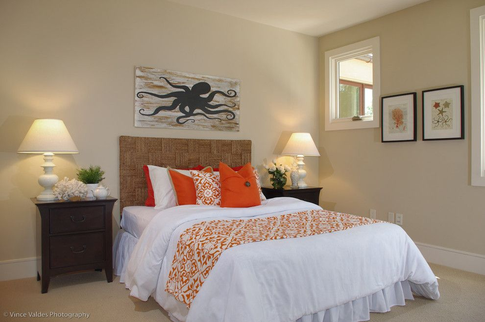 How to Remove Baseboard for a Beach Style Bedroom with a Guest Room and Organic Contemporary with Whimsical Pops by Lisa Benbow   Garnish Designs