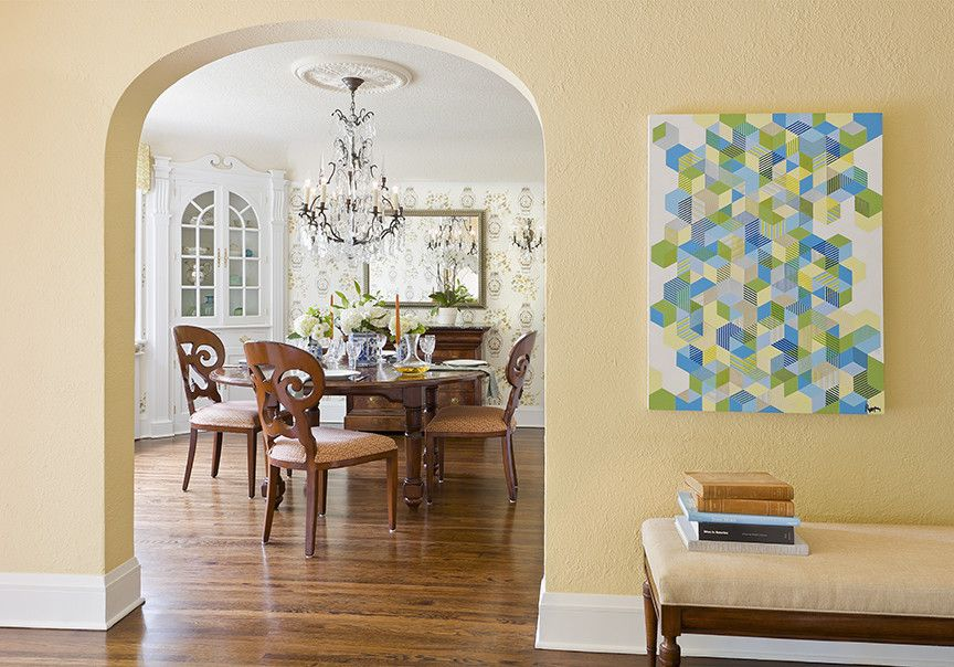 How to Remove Baseboard for a Traditional Dining Room with a Bench and English Colonial by Lucy Interior Design