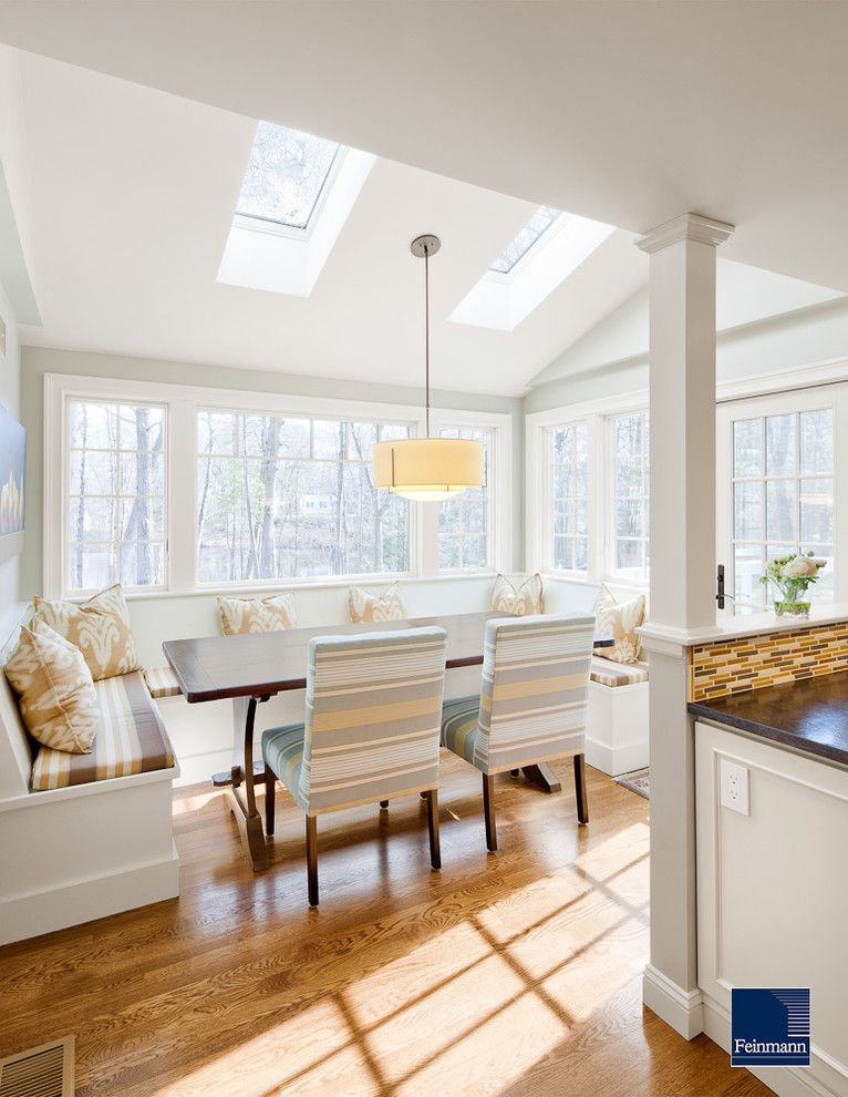 How to Remove Baseboard for a Traditional Kitchen with a Skylights and Connecting Spaces by Feinmann, Inc.