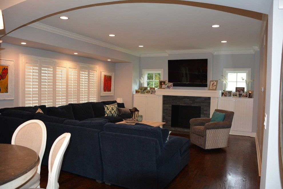 How to Remove Baseboard for a Transitional Living Room with a Kitchen and 1223 Warrington by Michael Stone Group