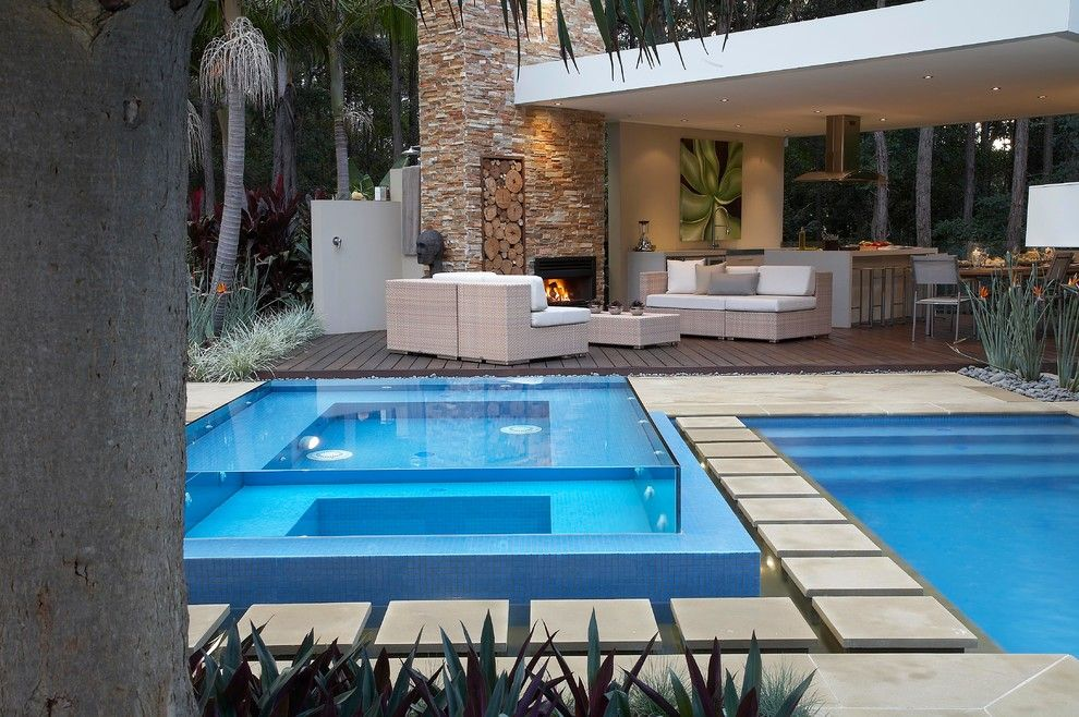 How to Remove Carpet Glue From Concrete for a Contemporary Pool with a Concrete Walkway and Resort Style Living by Dean Herald Rolling Stone Landscapes