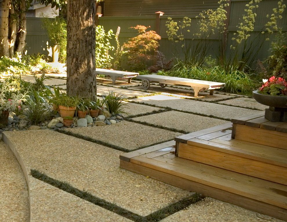 How to Remove Carpet Glue From Concrete for a Craftsman Landscape with a Shade Garden and Hollywood Craftsman by June Scott Design