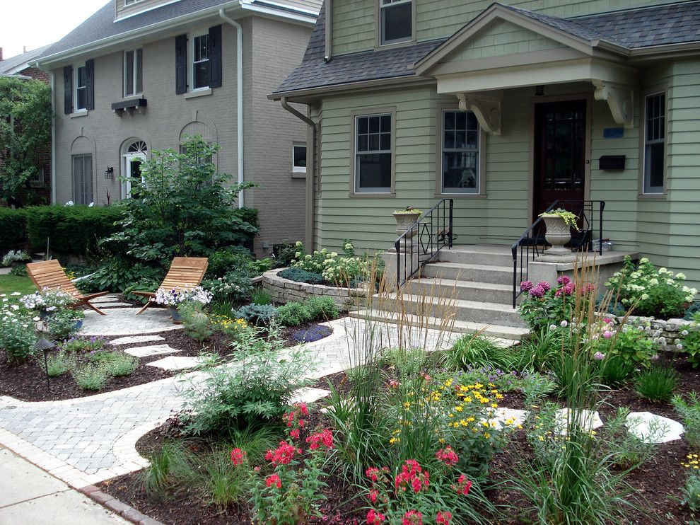 How to Remove Carpet Glue From Concrete for a Traditional Landscape with a Covered Patio and Cottage Garden with Curb Appeal by Nature's Perspective Landscaping
