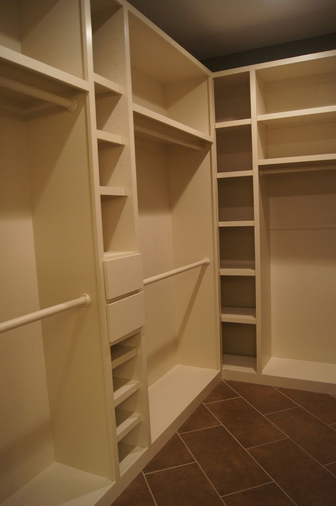 How to Restain Cabinets for a Traditional Closet with a Kitchen and Closets and Other Cabinet Ideas by Creative Cabinets and Faux Finishes. Llc