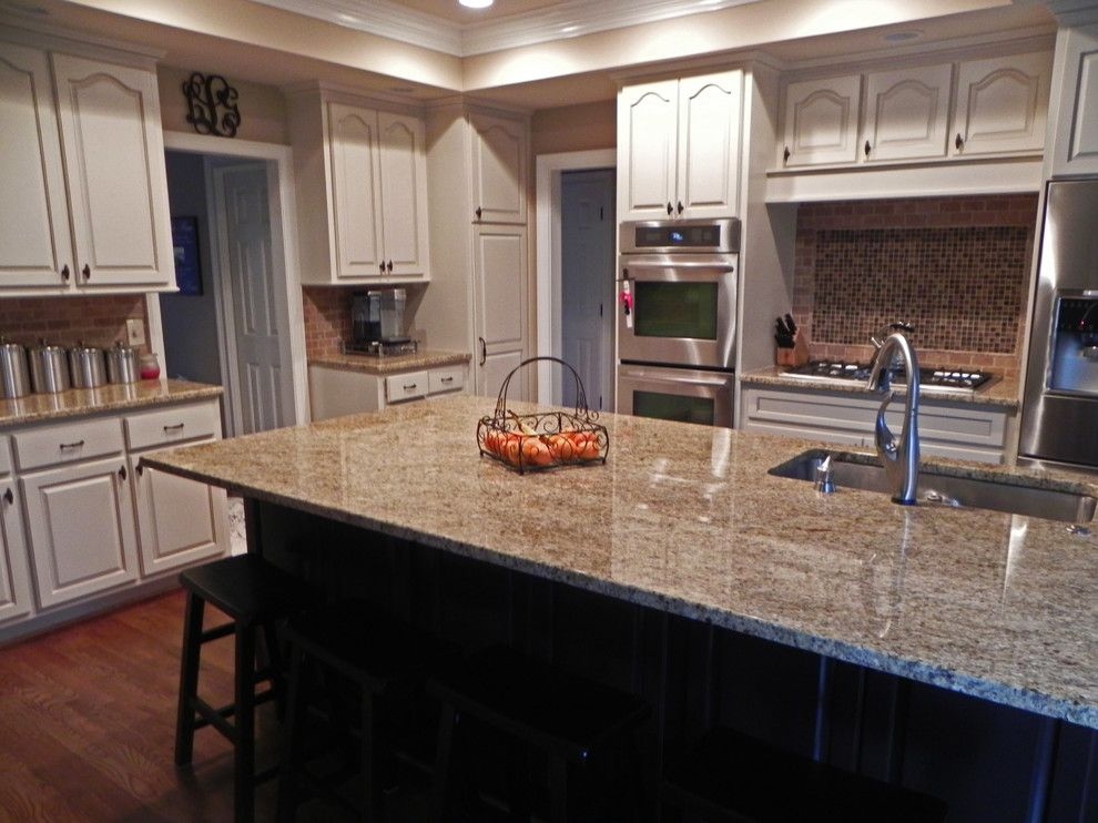 How to Restain Cabinets for a Traditional Kitchen with a Dunwoody and Ccff Kitchen Cabinet Finishes by Creative Cabinets and Faux Finishes. Llc