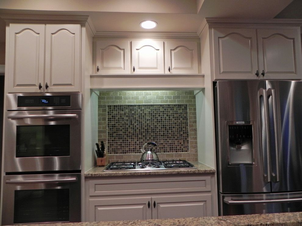 How to Restain Cabinets for a Traditional Kitchen with a Milton and Ccff Kitchen Cabinet Finishes by Creative Cabinets and Faux Finishes. Llc