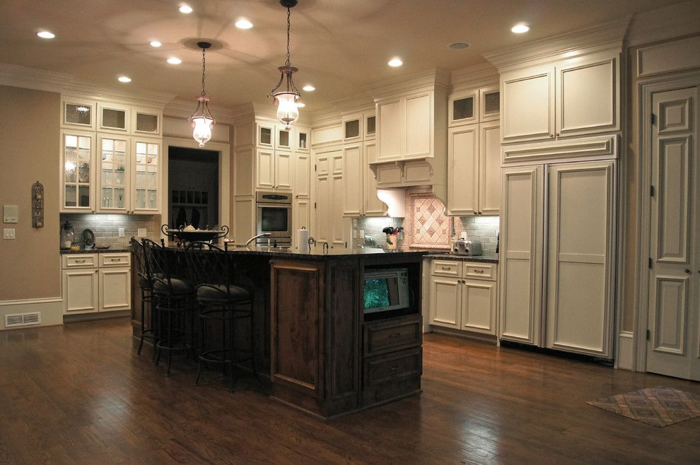 How to Restain Cabinets for a Traditional Kitchen with a Refacing and Kitchen Cabinets by Creative Cabinets and Faux Finishes. Llc