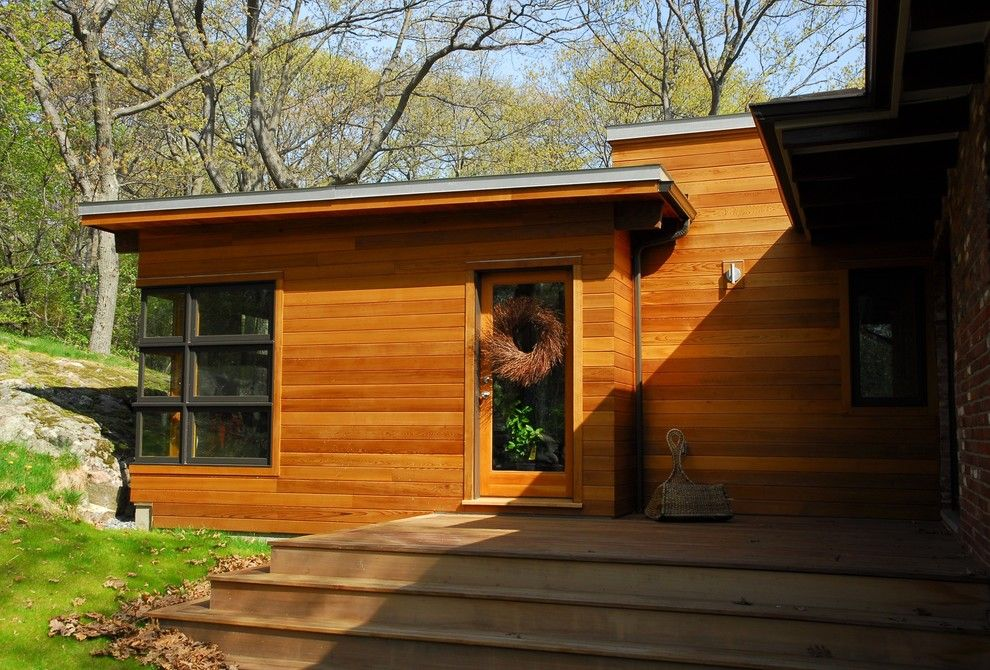 How to Restain Wood for a Modern Exterior with a Steps and 014. Arlington Modern House Addition by Hammer Architects