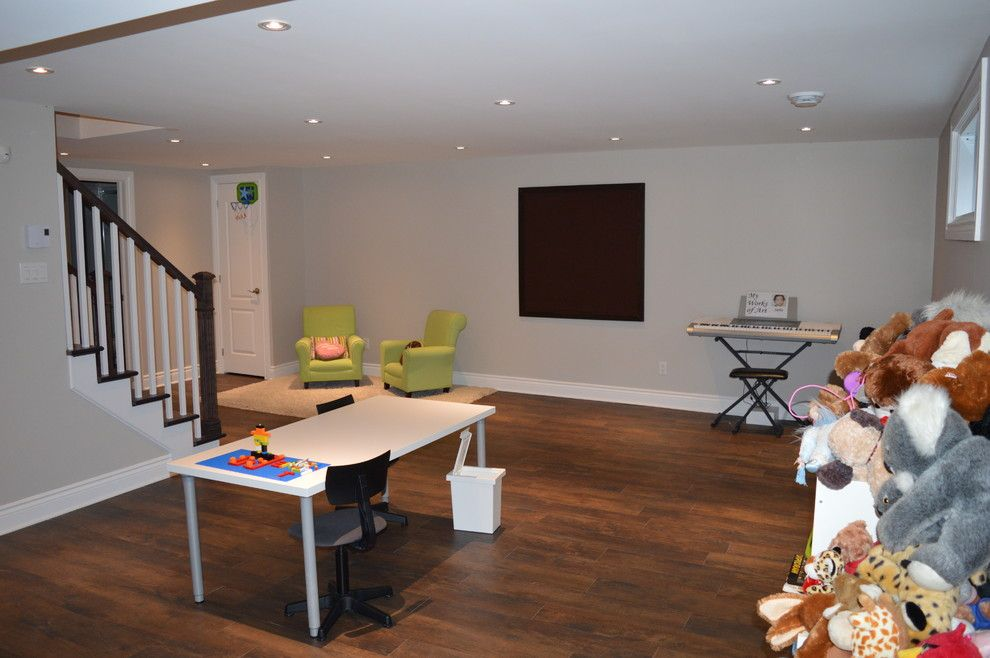 How to Rewire a House for a Contemporary Basement with a Remodel and Jubilee by Afcon Construction