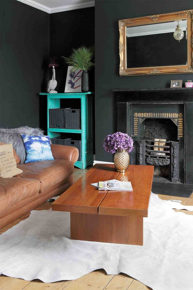 How to Rewire a House for a Eclectic Living Room with a Colour and Dust Design Project   Portobello Residence by Dust