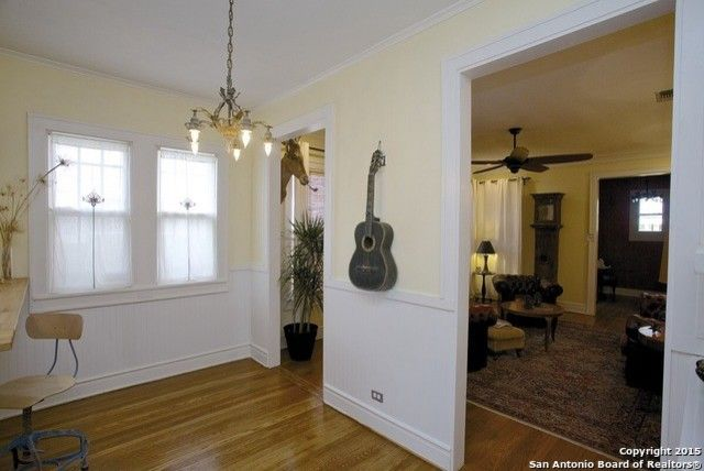 How to Rewire a House for a Mediterranean Dining Room with a Room Separation and 1925 Spanish Stucco Bungalow Total Home Restoration (After) by Brunniper Household