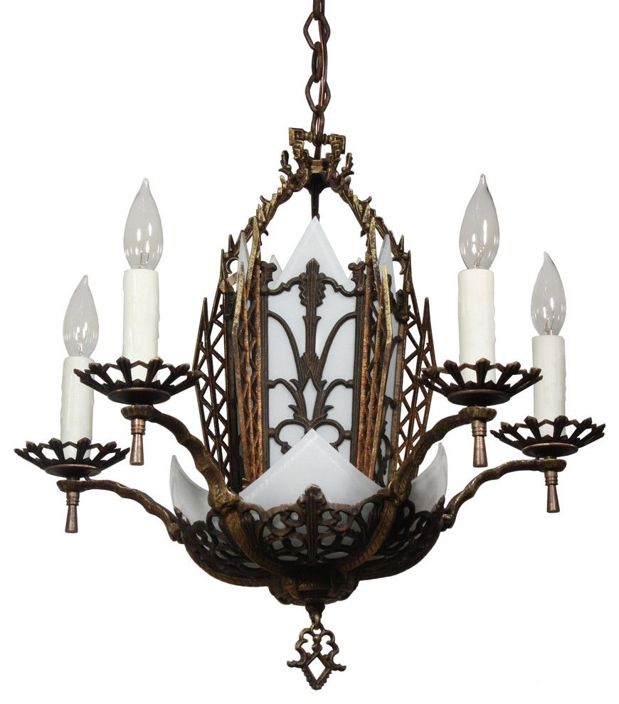 How to Rewire a House for a Transitional Spaces with a Glass and Antique Art Deco Lighting by Preservation Station