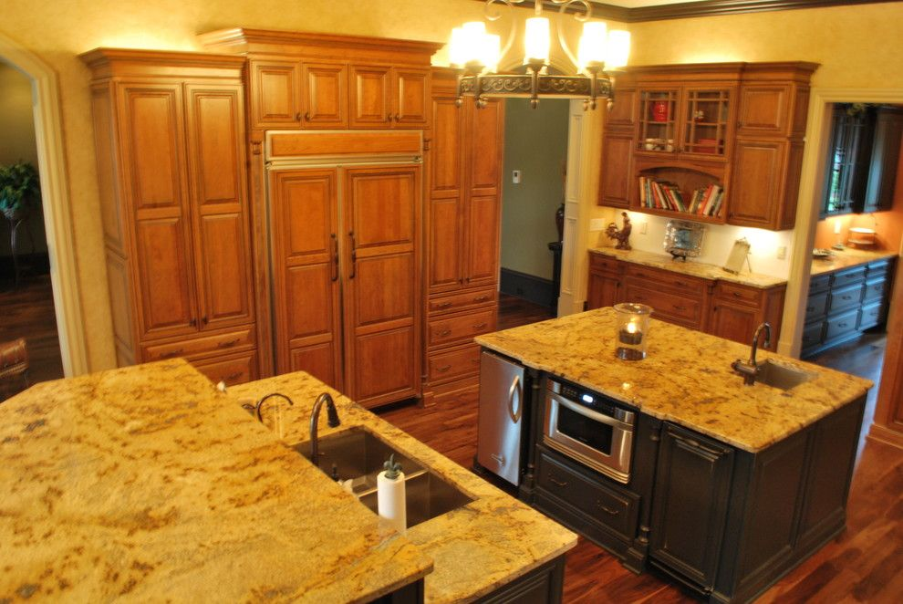 How to Sand Drywall for a Traditional Kitchen with a Double Islands and Spangler Residence by Blue Line Design