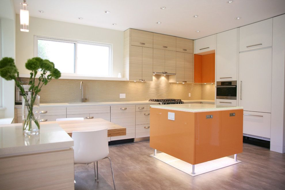 How to Texture Drywall for a Contemporary Kitchen with a Ceiling Lighting and Kitsilano   Kitchen by the Sky is the Limit Design