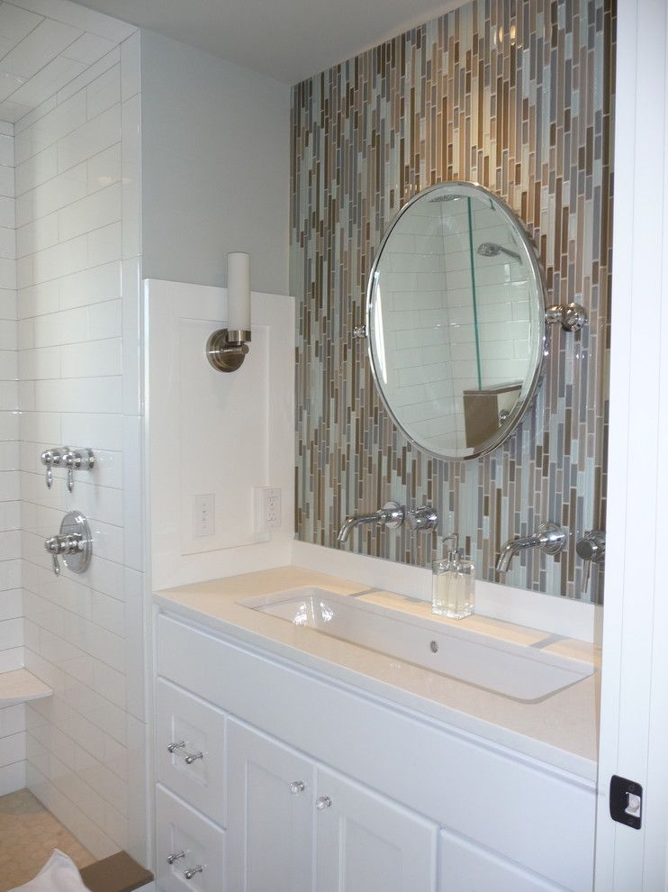 How to Unclog a Bathroom Sink for a Contemporary Bathroom with a Two Faucet Trough Sink and Kelley Gardner by Kelley Gardner