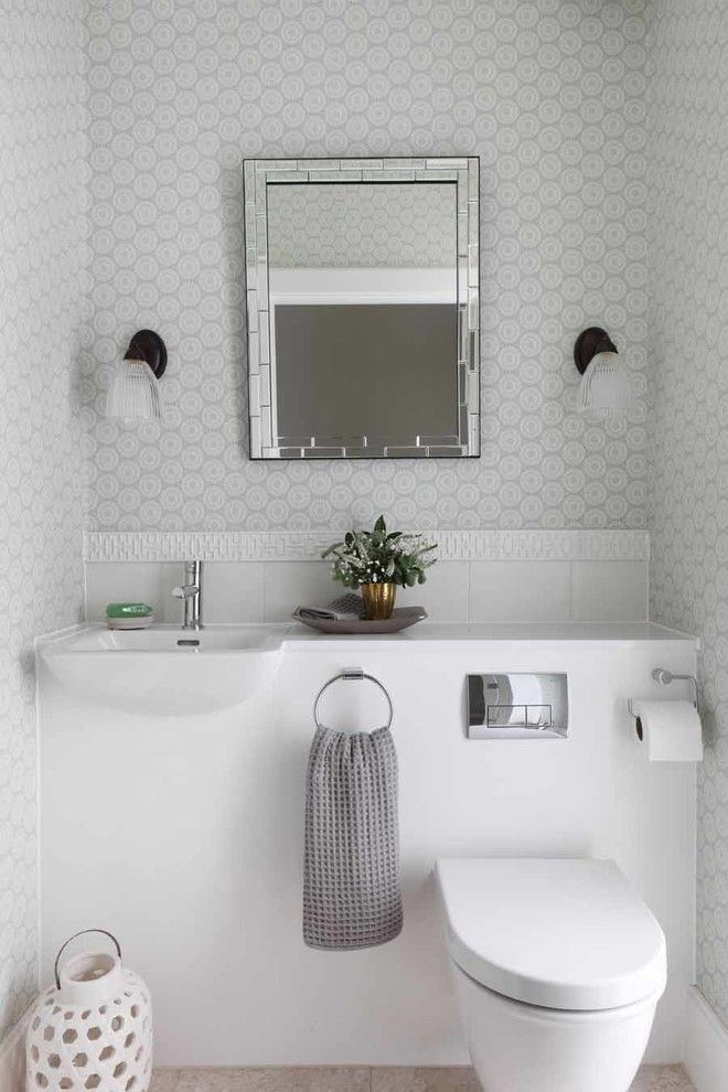 How to Unclog a Bathroom Sink for a Contemporary Powder Room with a Small Bathroom and Contemporary Powder Room by Hannah Brown