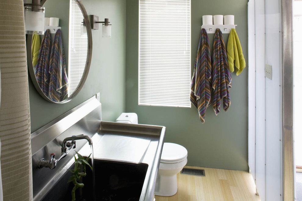 How to Unclog a Bathroom Sink for a Industrial Bathroom with a Back Splash and the Swell House by Brennan + Company Architects