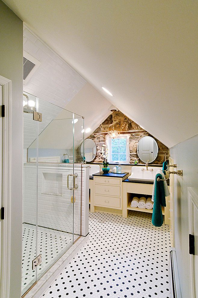 How to Unclog a Bathroom Sink for a Traditional Bathroom with a Shower and His & Hers Vanity by Harth Builders