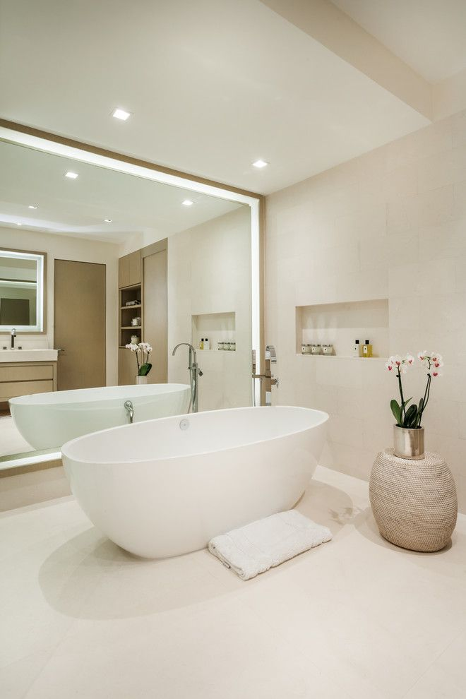 How to Unclog a Bathtub Drain for a Contemporary Bathroom with a Stool and Apogee v by Sojo Design