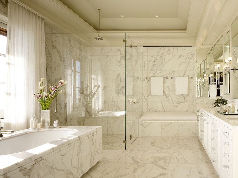 How to Unclog a Bathtub Drain for a Traditional Bathroom with a Glass Shower Door and Soda Canyon Residence by Bar Architects