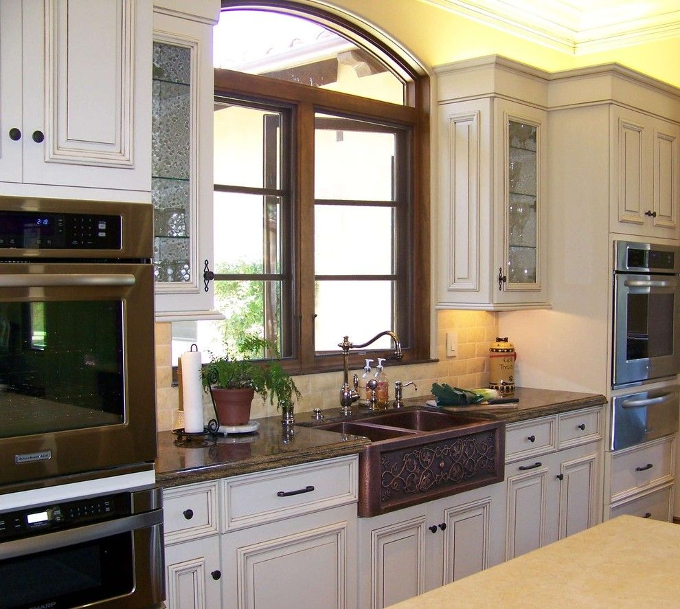 How to Unclog a Sink Drain for a Traditional Kitchen with a Casement Windows and Sink View by Design Moe Kitchen & Bath / Heather Moe Designer