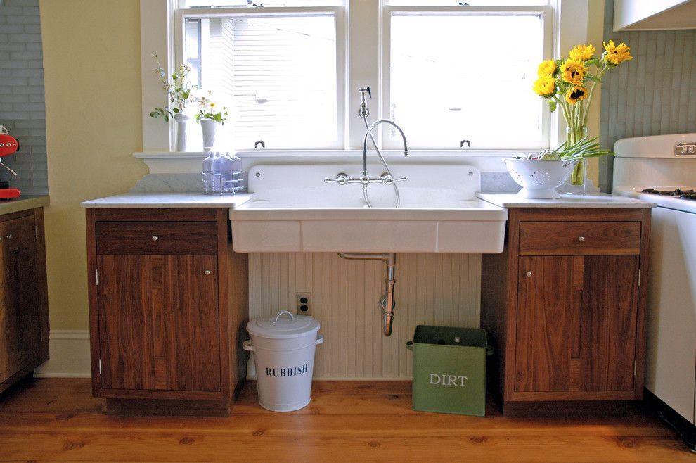 How to Unclog a Sink Drain for a Traditional Kitchen with a Vintage Stove and Anne & Richard's 1908 Home by Arciform
