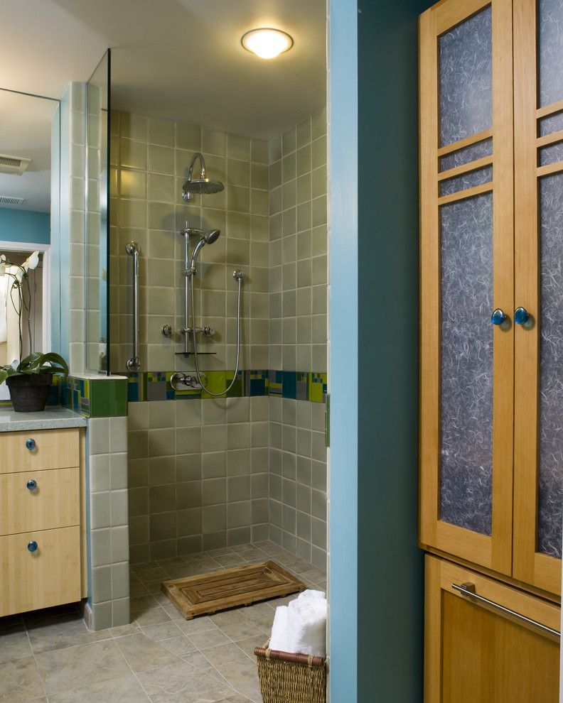 How to Unclog Shower Drain for a Contemporary Bathroom with a Bathmat and Universally Designed Bathroom by Harrell Remodeling, Inc.