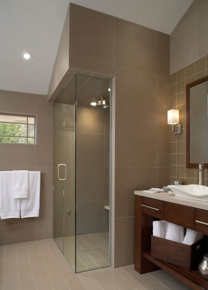 How to Unclog Shower Drain for a Contemporary Bathroom with a Recessed Lighting and Feng Ciao by Xstyles Bath + More