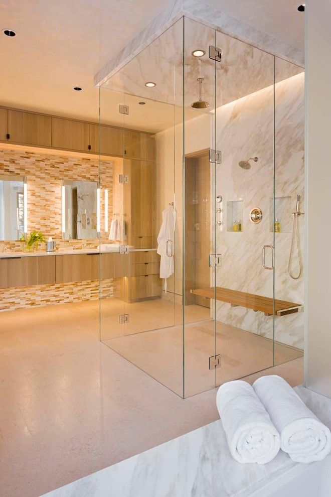 How to Unclog Shower Drain for a Rustic Bathroom with a Doorway and Morningstar Residence by Zone 4 Architects, Llc