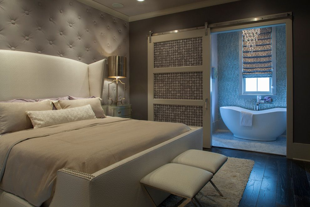 How to Unlock a Bedroom Door for a Transitional Bedroom with a Window and Richardson Residence by Geoff Chick & Associates