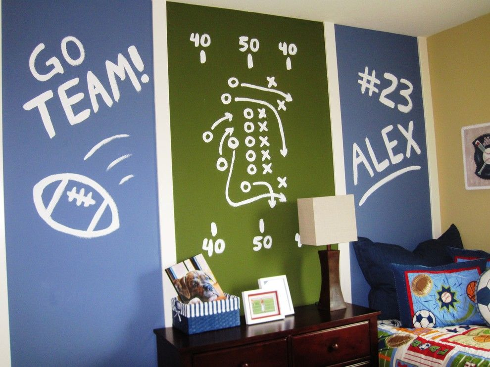 How to Use Annie Sloan Chalk Paint for a Contemporary Kids with a Wall Stripes and Huntington Square by Klang & Associates