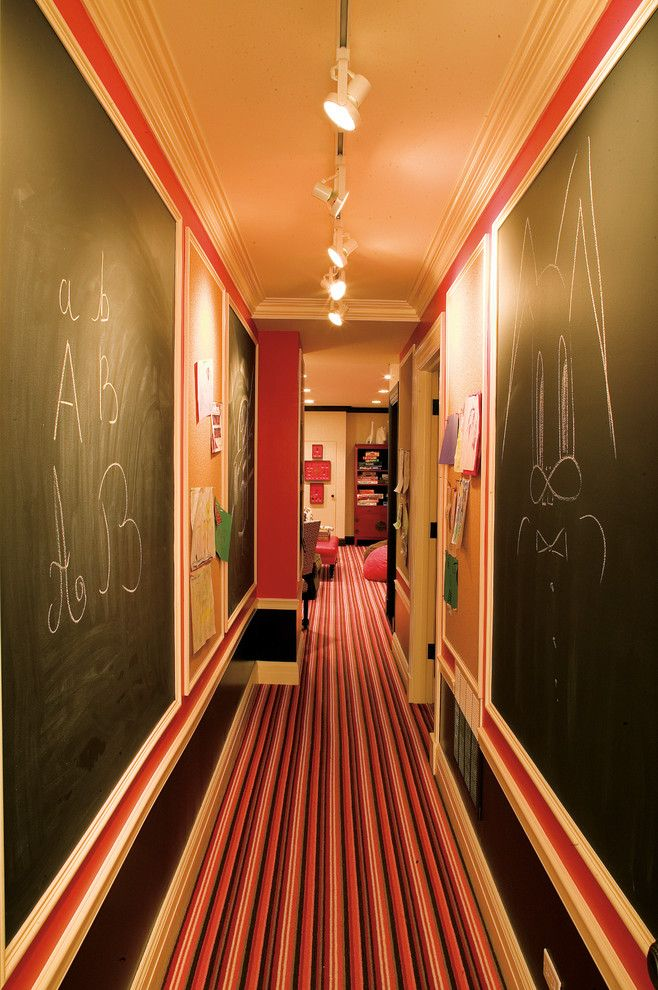How to Use Annie Sloan Chalk Paint for a Eclectic Hall with a Bold and Basement Hallway with Chalk Walls by Branca, Inc.