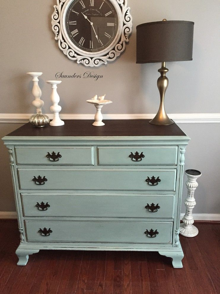 How to Use Annie Sloan Chalk Paint for a Eclectic Home Office with a Cottage and Furniture & Accessories by Saunders Design