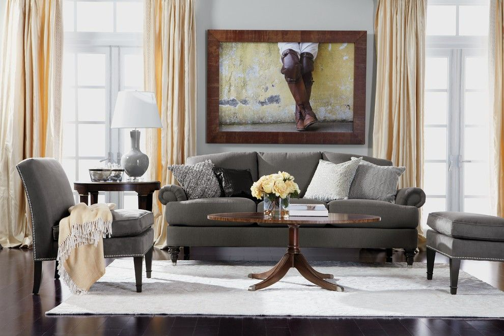 Howard Hill Furniture for a Traditional Living Room with a Wall Art and Ethan Allen by Ethan Allen
