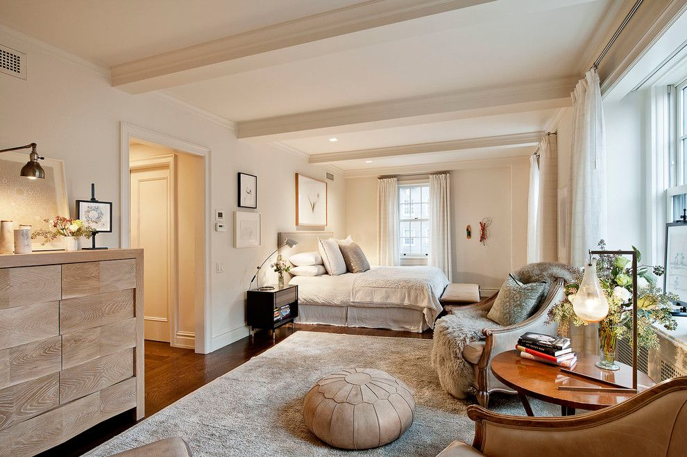 Howell Furniture for a Contemporary Bedroom with a Pillows and Lower Fifth Avenue Apartment by David Howell Design
