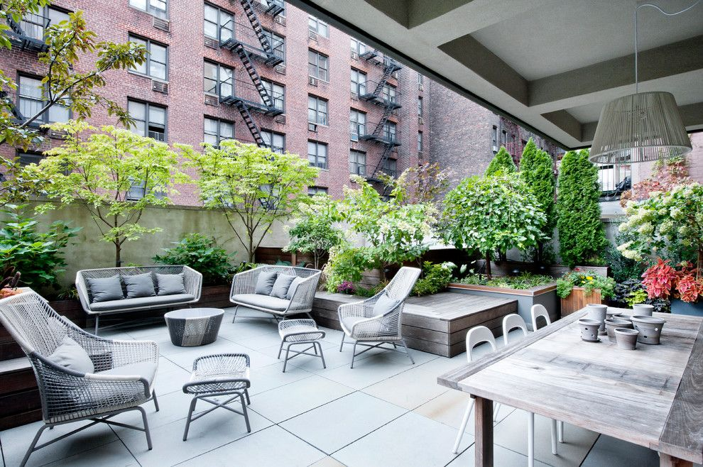 Howell Furniture for a Contemporary Patio with a Patio Furniture and Gramercy Loft by David Howell Design