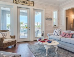 Hpw Real Estate School for a Beach Style Living Room with a Wood Sign and the Cottages at Romar- C1 by Erin E. Kaiser, Kaiser Real Estate Sales, Inc