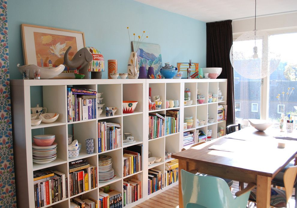 Hpw Real Estate School for a Contemporary Dining Room with a Bookshelves and Nina Van De Goor's Home by Ninainvorm