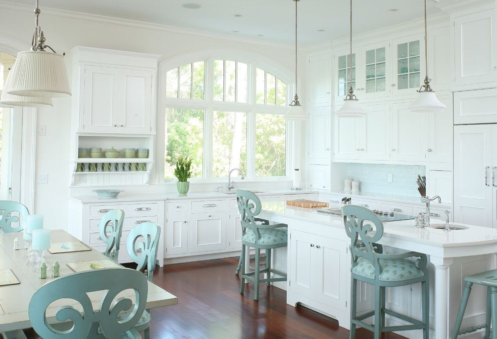 Hudson Appliance for a Beach Style Kitchen with a White Kitchen and Kitchens by Professional Designers by Signature Kitchens & Baths of Charleston, Inc.