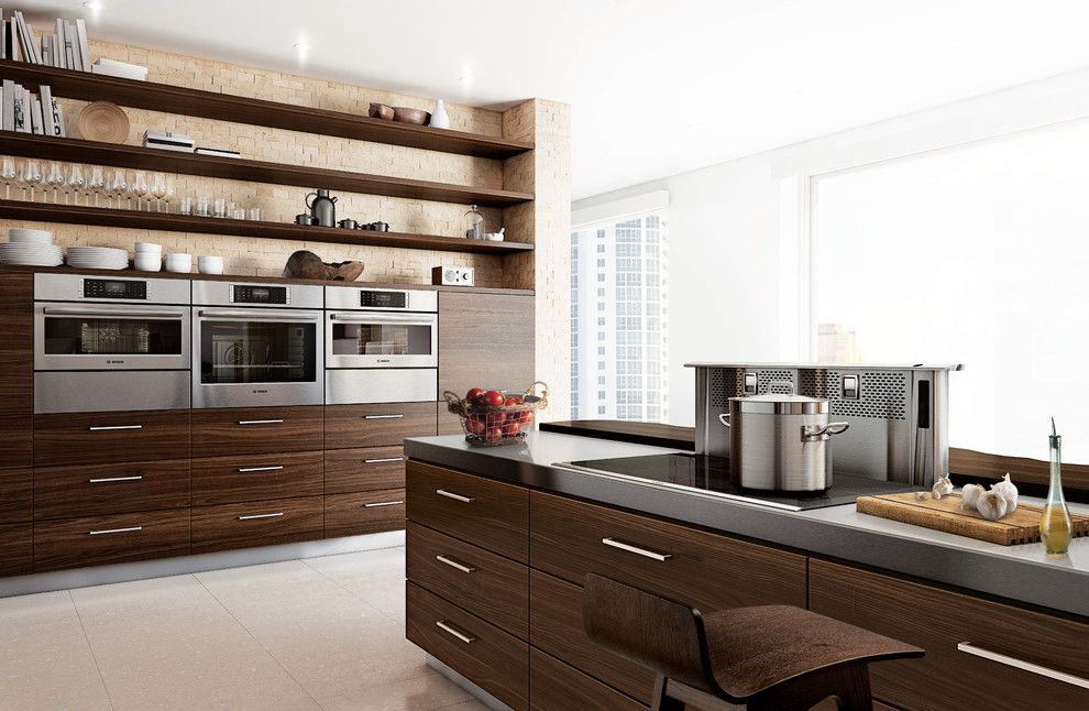 Hudson Appliance for a Contemporary Kitchen with a Modern and Bosch Kitchens by Bosch Home Appliances