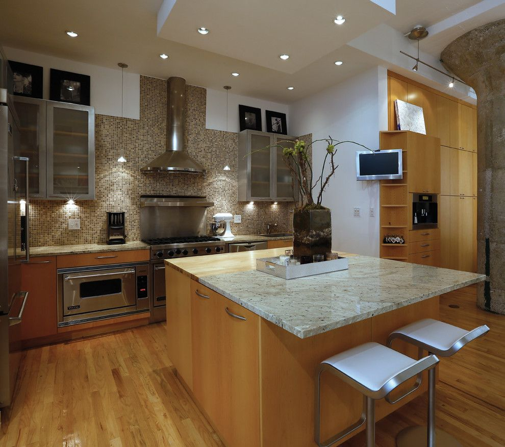 Hudson Appliance for a Contemporary Kitchen with a Wood Floor and Hudson Street by Best & Company