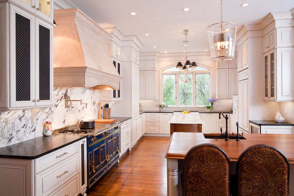 Hudson Appliance for a Traditional Kitchen with a Marble and Kitchen + Bath Artisans by Kitchen + Bath Artisans