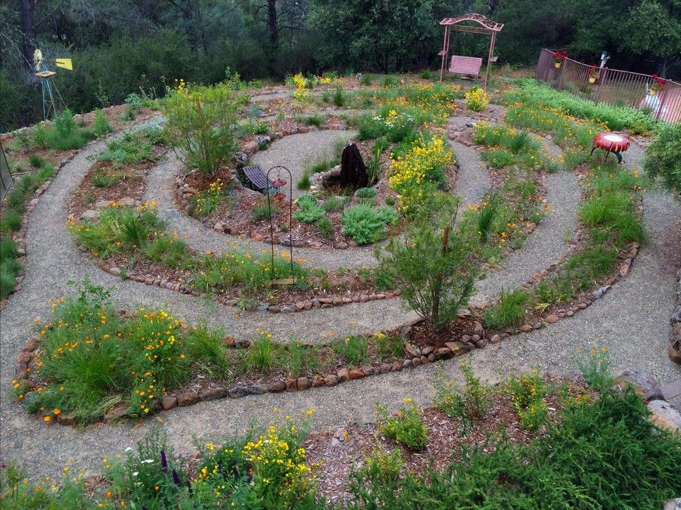 Hummingbird Habitat for a Eclectic Landscape with a Native Plants and Prairie Loop Spiral by Verne Pershing, the Art of Gardening