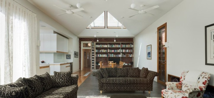 hunterfan.com for a Contemporary Living Room with a Informal Living and Basser House by Mihaly Slocombe
